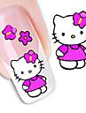 1 Nail Art-klistermärken Vatten Överföringsdekaler makeup Kosmetisk Nail Art-design