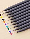 gel Pen Stilou Carioci Stilou,Plastic Butoi Roșu Negru Albastru Galben Mov Portocaliu Verde Culori de cerneală For Rechizite școlare