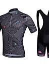 Fastcute Maillot et Cuissard a Bretelles de Cyclisme Homme Manches Courtes Velo Cuissard a bretelles Veste Cuissard / Short Chemise Shirt