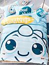 Animal Ensembles housse de couette 4 Pieces Coton Dessin-Anime Imprime Coton Lit 2 Places \'Queen\'1 x Housse de couette 2 x Taies