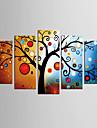toile set Abstrait A fleurs/Botanique Classique Style europeen,Cinq Panneaux Toile Toute Forme Imprimer Art Decoration murale For