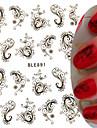 1pcs Nail Art-klistermärken Vatten Överföringsdekaler makeup Kosmetisk Nail Art-design