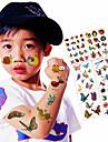 6 Tatouages Autocollants Series animales Dessins Animes Non Toxique ImpermeableEnfant Adolescent Tatouage TemporaireTatouages