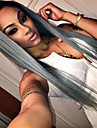 dentelle synthetique vente chaude devant perruques soyeux striaght T1b cheveux / couleur grise fibres synthetiques perruques de cheveux