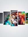 Imprimeu Canava Abstract Animal Modern,Cinci Panouri Canava Orizontală Panoramic print Arta Decor de perete For Pagina de decorare