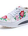 Damă Mocasini & Balerini Primăvară Vară Toamnă Iarnă Confortabili Noutăți Pantofi brodate Pânză Outdoor Casual Atletic Toc PlatDantelă