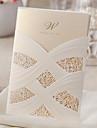 Șal & Buzunar Invitatii de nunta 50-Invitații Stil Clasic Hârtie Perlă
