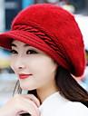 toamnă și de iarnă fată iepure păr de moda berete culoare pură cald lână tricotate capac de baseball