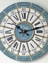 Traditionnel Rustique Antique Retro Vacances Famille Horloge murale,Nouveaute Bois Plastique 35*35 Interieur/Exterieur Interieur Horloge