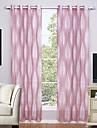 Două Panouri Tratamentul fereastră Modern , Geometic Sufragerie Poliester Material Sheer Perdele Shades Pagina de decorare For Fereastră