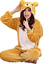 kigurumi Pyjamas Ours Collant/Combinaison Fete / Celebration Pyjamas Animale Halloween Jaune Mosaique polaire Costumes de Cosplay Kigurumi