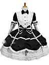 Costumes de Cosplay Tenus de Servante Fete / Celebration Deguisement d\'Halloween Noir Incarnadin Couleur Pleine Carnaval Feminin Coton