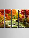 Landskap Moderna,Fem paneler Kanvas Vertikal Målning väggdekor For Hem-dekoration
