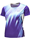 Homme Manches courtes Course / Running Hauts/Tops Respirable Confortable Ete Vetements de sport Badminton Polyester AmpleBleu de minuit