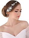 Femei Perle Cristal Aliaj Diadema-Nuntă Ocazie specială Exterior Tiare Cordeluțe Flori Lănțișor de cap 1 Bucată