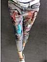 Damă Subțire Floral Talie Înaltă,strenchy Skinny Pantaloni Floral Florale