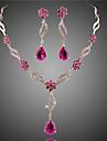 Dame Seturi de bijuterii Seturi de bijuterii de mireasă Cristal imitare Ruby La modă European Floral Cristal Zirconiu Zirconiu Cubic Aliaj