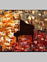 Peint a la main Abstrait Nature morte Format Horizontal,Moderne Style europeen Un Panneau Toile Peinture a l\'huile Hang-peint For