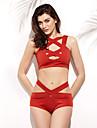 Femei Bikini Femei Cu Susținere Mulată Nailon / Spandex