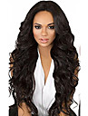 10-26 pouces cheveux vierges humains noirs naturels couleur lacet perruque avant coiffure corps coiffure avec cheveux bebe