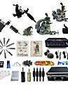 Komplett tatueringsutrustning1 x stål tatueringsmaskin för linjer och skuggning 2 x roterande tatueringsmaskin för linjer och skuggning 1
