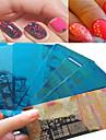 1pcs doux beau clou plaque d\'estampage de conception de dentelle plaque d\'estampage en acier inoxydable colore conception pochoirs beaute