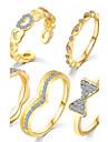 Inele Midi Inel Ștras Geometric La modă Vintage Stil Punk Zirconiu Ștras Circle Shape Geometric Shape Auriu Argintiu Bijuterii Pentru