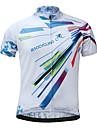JESOCYCLING Maillot de Cyclisme Homme Manches courtes Velo MaillotSechage rapide Respirable Doux Materiaux Legers Poche arriere