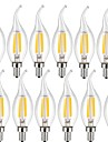 4w e14 becuri filament conduse ca35 4 cob 400 lm cald alb rece alb decorativ ac 220-240 v 12 buc