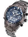 ASJ Bărbați Ceas Sport Ceas de Mână Japoneză Quartz LCD Calendar Cronograf Rezistent la Apă Zone Duale de Timp alarmă Oțel inoxidabil