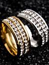 Inele Cuplu Teak Zirconiu Round Shape Design Unic Auriu Negru Argintiu Bijuterii Nuntă Petrecere Ocazie specială Halloween Zilnic Casual1