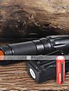 Kits de Lampe de Poche LED 2200 Lumens 5 Mode Cree XM-L T6 18650 Faisceau AjustableCamping/Randonnee/Speleologie Usage quotidien De