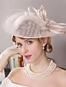 Pană Ștras In Diadema-Nuntă Ocazie specială Exterior Pălărioare Pălării/Căciuli 1 Bucată