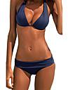 Femei Bikini Femei Bustieră Solid Polyester