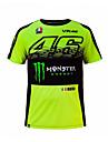 Motogp t - shirt equitation moto vr46 knight locy coton a manches courtes manches courtes t-shirt