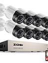 zosi® hd-tvi 8ch cameras de securite 1080p 2.0MP systeme 8 * 1080p vision 2000tvl jour de nuit cctv securite a la maison 2TB hdd
