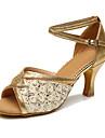 Chaussures de danse() -Personnalisables-Talon Personnalise-Similicuir Dentelle-Latines