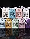 50 Piesă/Set Favor Holder-În Formă de Cub Hârtie perlă Cutii de Savoare Nepersonalizat