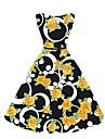 Damă Casul/Zilnic Nuntă Plus Size Vintage Șic Stradă Swing Rochie-Brodată Fără manșon Rotund Lungime Genunchi Poliester Vară Talie Medie