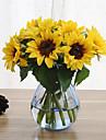 6 Gren Silke Solrosor Konstgjorda blommor