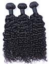 Tissages de cheveux humains Cheveux Malaisiens Boucle 12 mois 3 Pieces tissages de cheveux