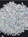 720pcs micro diamant diamant strass rhinestone cristal plat pas hotfix rhinestones autocollants besoin de colle clous art decoration