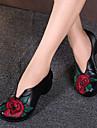 Damă Pantofi Flați Primăvară Vară Pantof cu Berete PU Casual Toc Gros Negru Galben Rosu