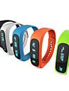 e02 bracelet Bluetooth sport montre intelligente temps de bracelet sain / caller id / alarme / podometre moniteur de sommeil pour Android