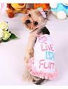 Câini Rochii Îmbrăcăminte Câini Modă Casul/Zilnic Prințesă Galben Roz