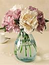 5 Pieces 5 Une succursale Plastique Pivoines Fleur de Table Fleurs artificielles