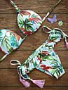Bikini Bustieră Floral Polyester