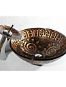 Antichizat Rotund Material chiuvetă este Sticlă securizată Chiuvetă Baie