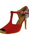Latin-Pantofi de dans(Rosu) -Personalizabili-Damă