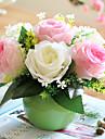 1 ramură Trandafiri Față de masă flori Flori artificiale
